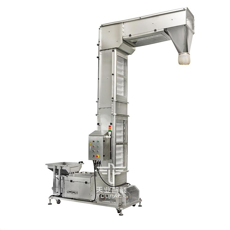 SUS304 Food Grade PP Z Type Bucket Elevator Conveyor