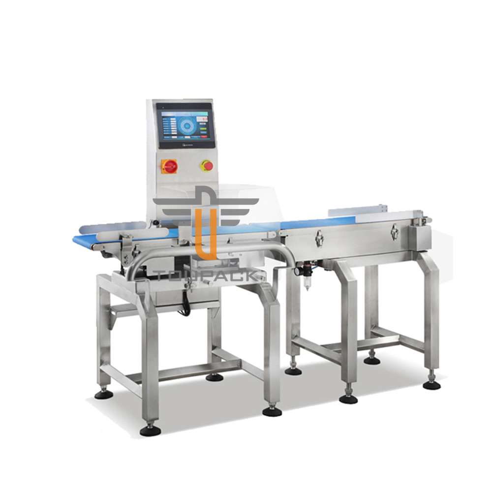 Automatic Checkweigher Belt Conveyor  With Drop Off Rejector For Packaged Food Production